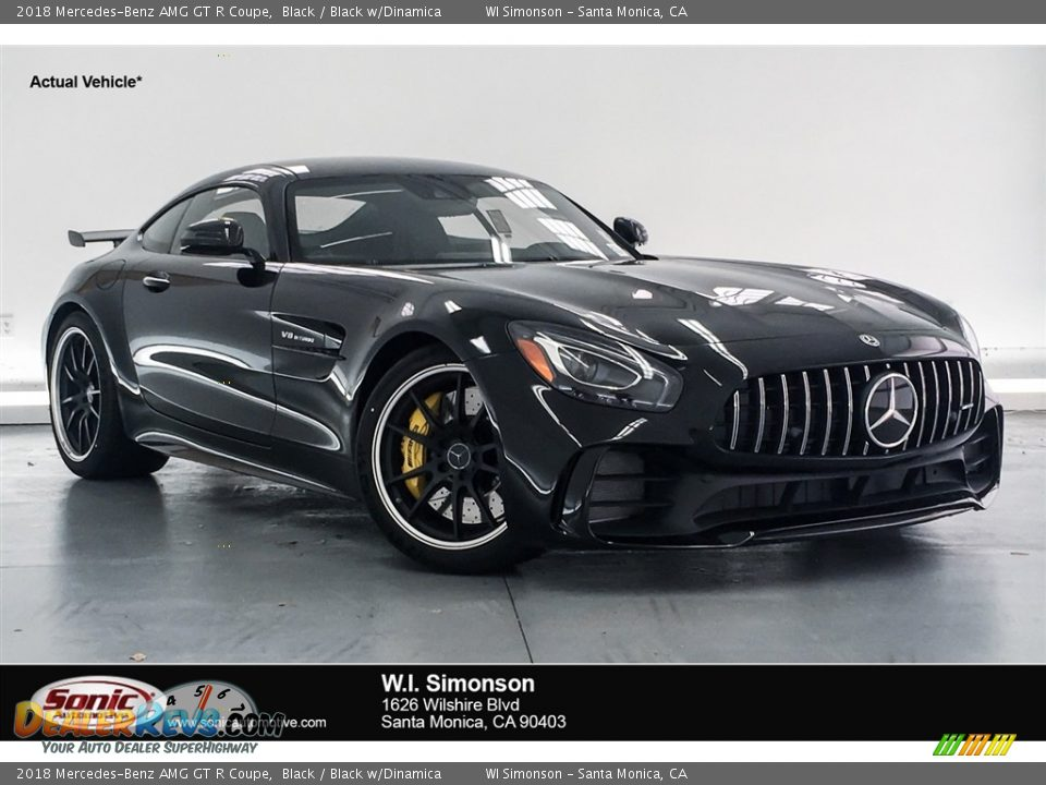 2018 Mercedes-Benz AMG GT R Coupe Black / Black w/Dinamica Photo #1