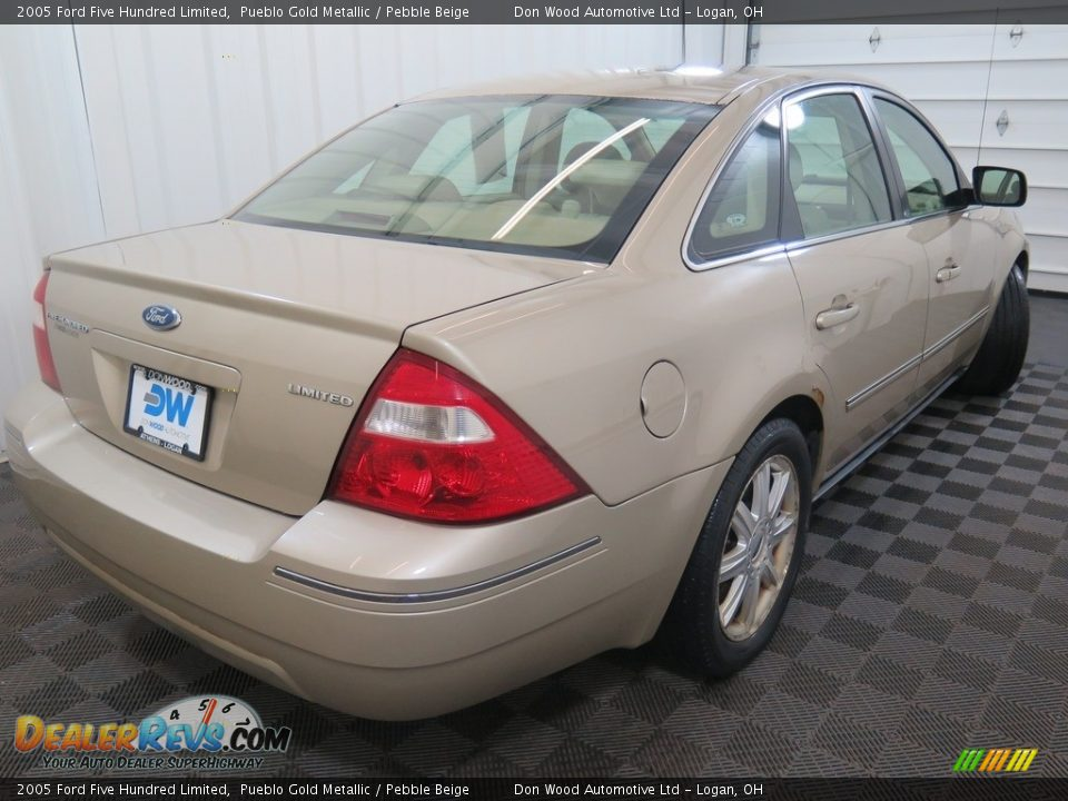 2005 Ford Five Hundred Limited Pueblo Gold Metallic / Pebble Beige Photo #10