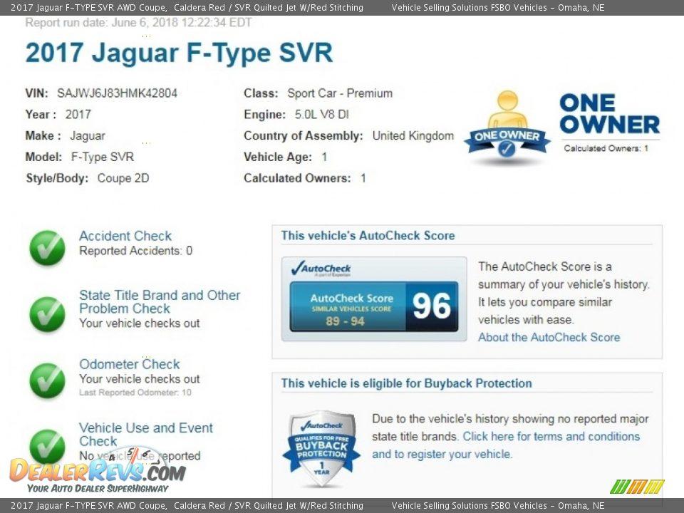Dealer Info of 2017 Jaguar F-TYPE SVR AWD Coupe Photo #2