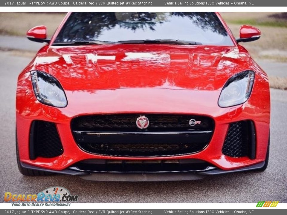2017 Jaguar F-TYPE SVR AWD Coupe Caldera Red / SVR Quilted Jet W/Red Stitching Photo #15
