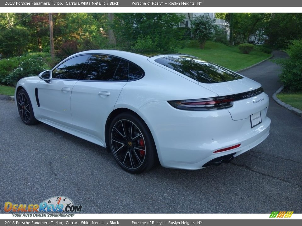 2018 Porsche Panamera Turbo Carrara White Metallic / Black Photo #4