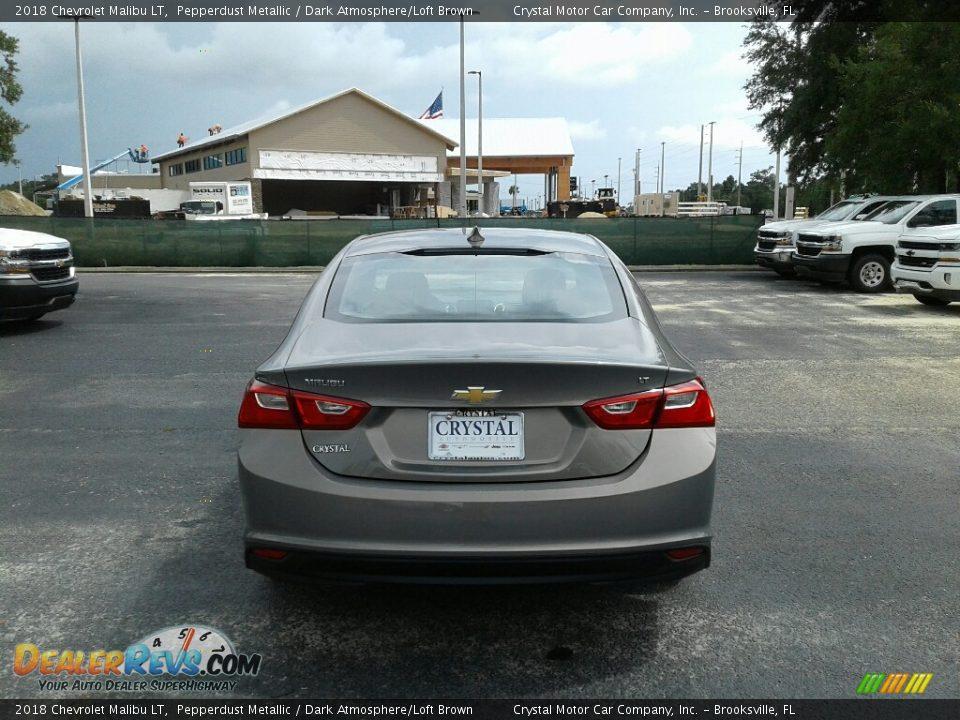 2018 Chevrolet Malibu LT Pepperdust Metallic / Dark Atmosphere/Loft Brown Photo #4