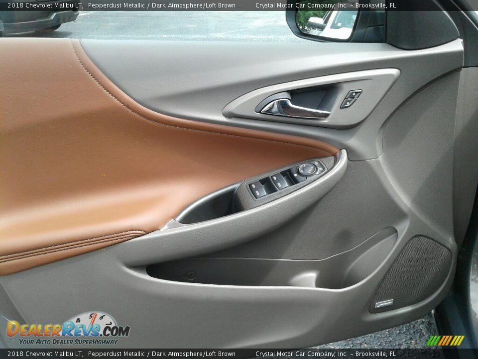 2018 Chevrolet Malibu LT Pepperdust Metallic / Dark Atmosphere/Loft Brown Photo #17