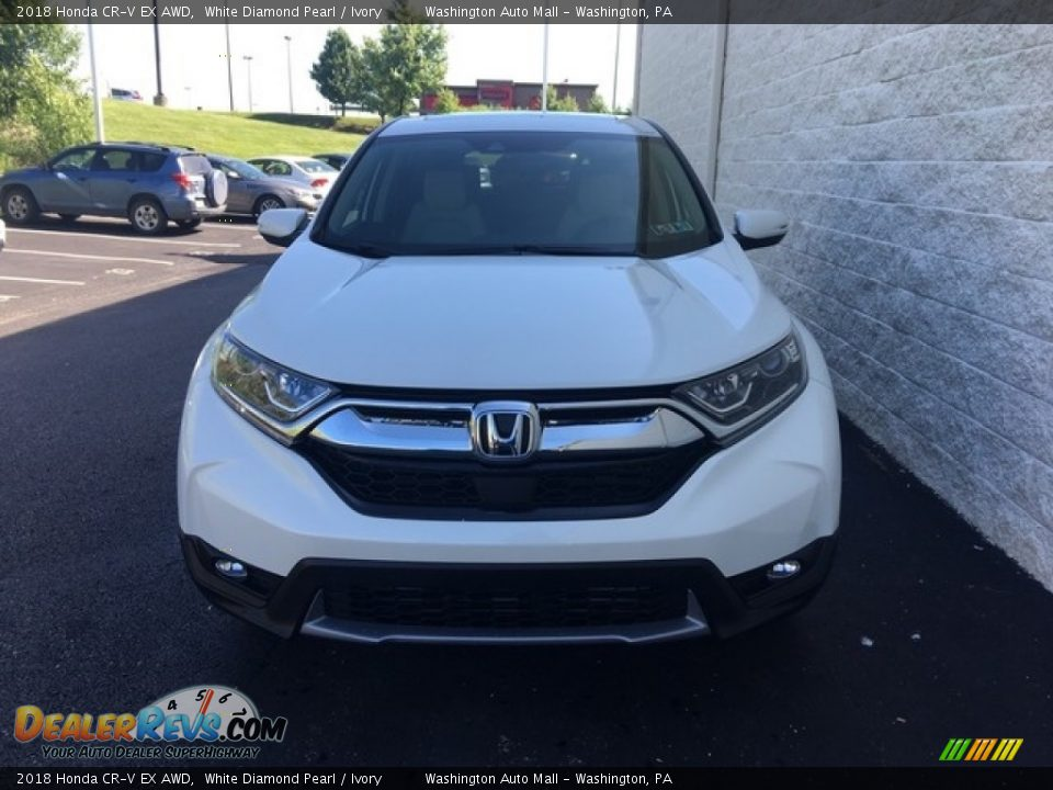 2018 Honda CR-V EX AWD White Diamond Pearl / Ivory Photo #2