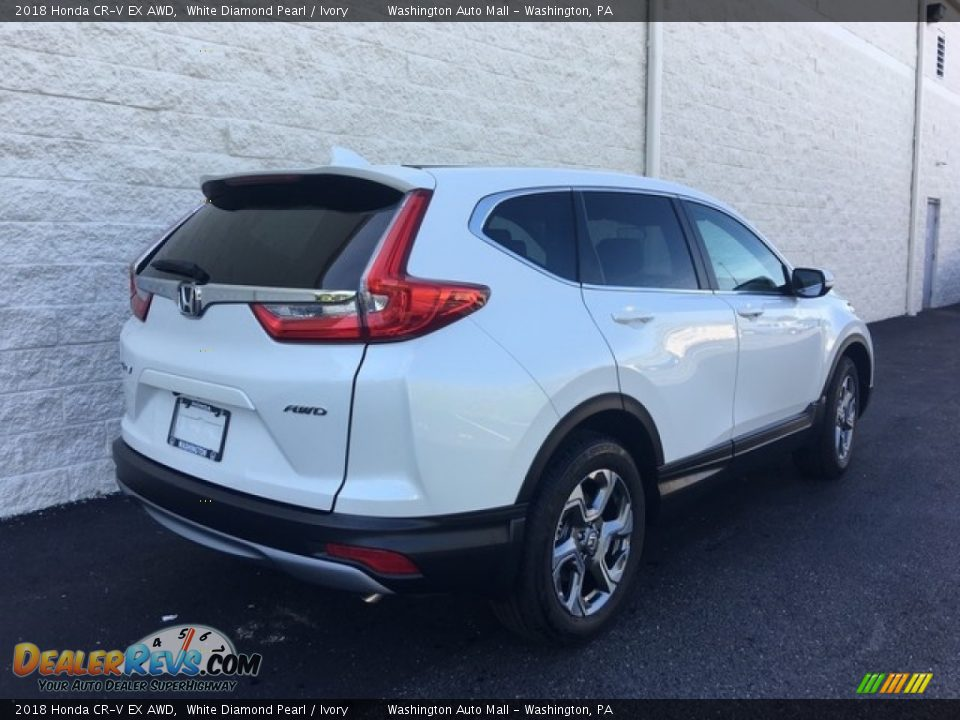 2018 Honda CR-V EX AWD White Diamond Pearl / Ivory Photo #4