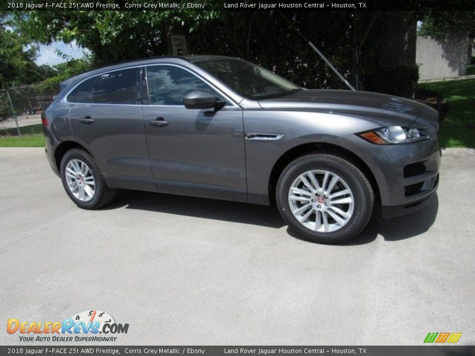 2018 Jaguar F-PACE 25t AWD Prestige Corris Grey Metallic / Ebony Photo #1