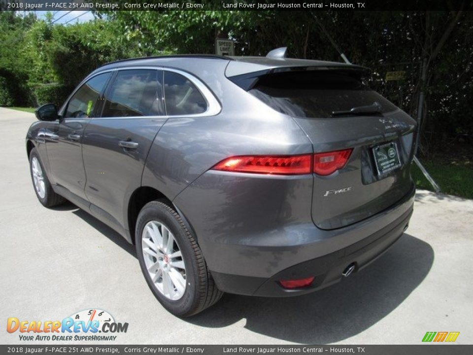 2018 Jaguar F-PACE 25t AWD Prestige Corris Grey Metallic / Ebony Photo #12