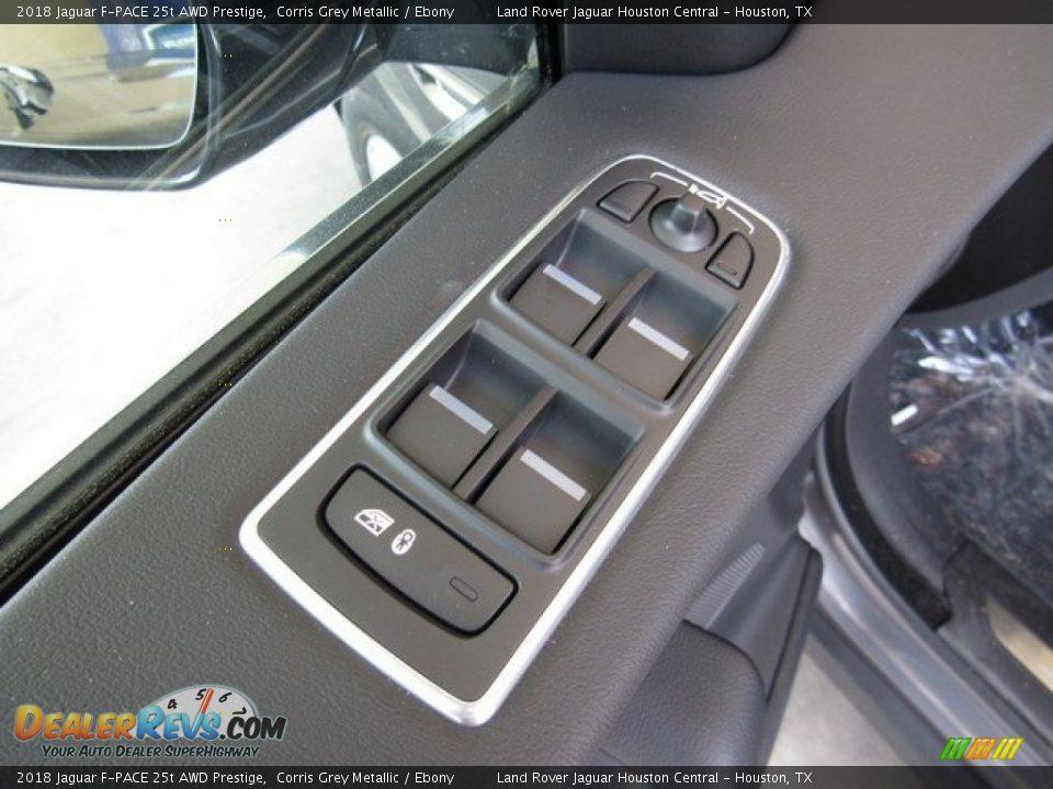 2018 Jaguar F-PACE 25t AWD Prestige Corris Grey Metallic / Ebony Photo #26