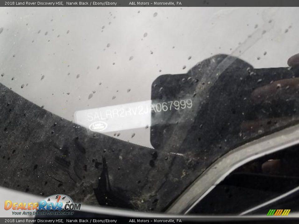 2018 Land Rover Discovery HSE Narvik Black / Ebony/Ebony Photo #18