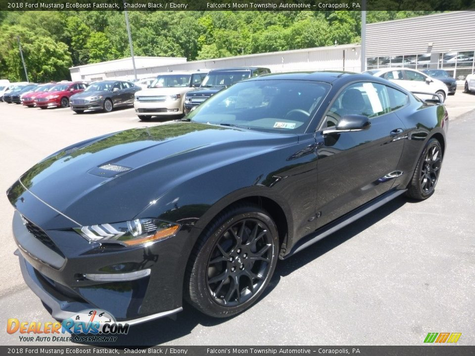 2018 Ford Mustang EcoBoost Fastback Shadow Black / Ebony Photo #5