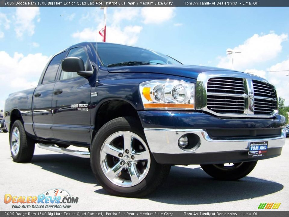 2006 dodge ram 1500 big horn edition quad cab 4x4 patriot blue pearl medium slate gray photo. Black Bedroom Furniture Sets. Home Design Ideas