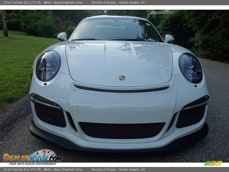 2016 Porsche 911 GT3 RS White / Black/Platinum Grey Photo #2