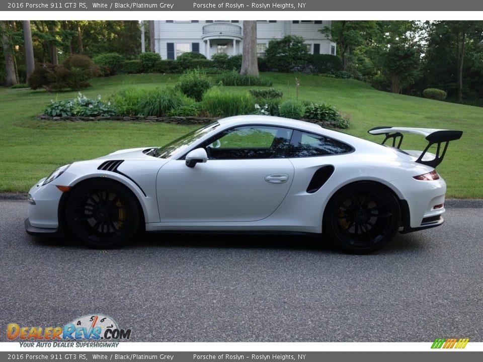 2016 Porsche 911 GT3 RS White / Black/Platinum Grey Photo #3