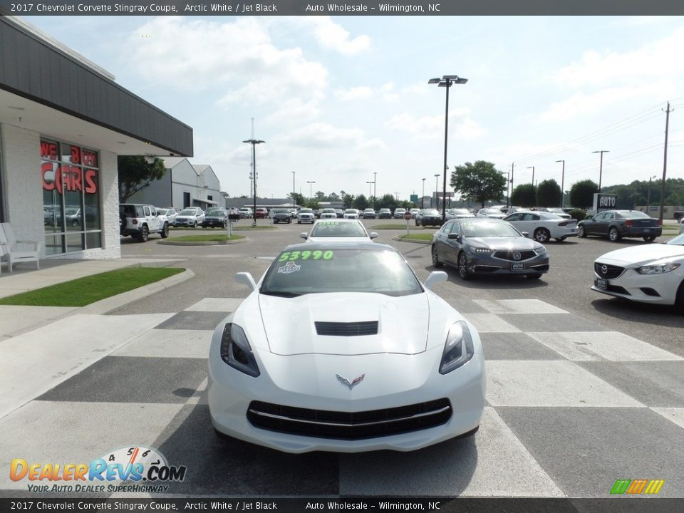 2017 Chevrolet Corvette Stingray Coupe Arctic White / Jet Black Photo #2