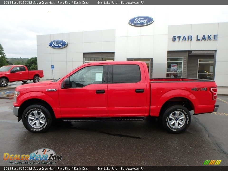 2018 Ford F150 XLT SuperCrew 4x4 Race Red / Earth Gray Photo #8