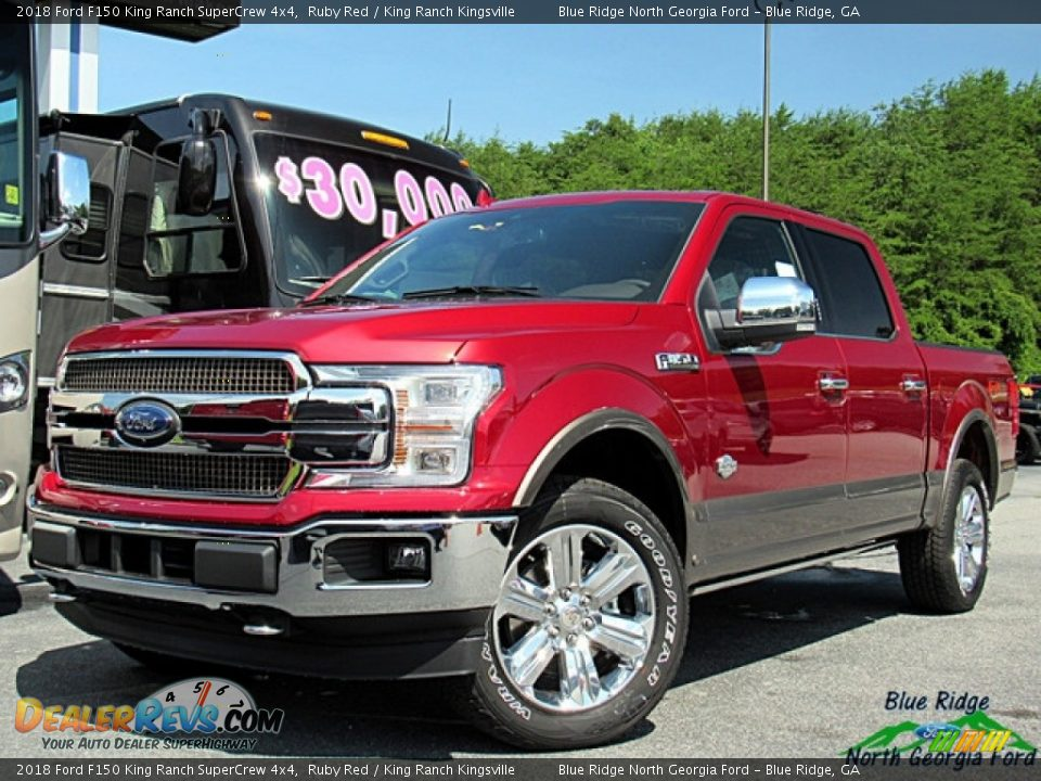2018 Ford F150 King Ranch SuperCrew 4x4 Ruby Red / King Ranch Kingsville Photo #1