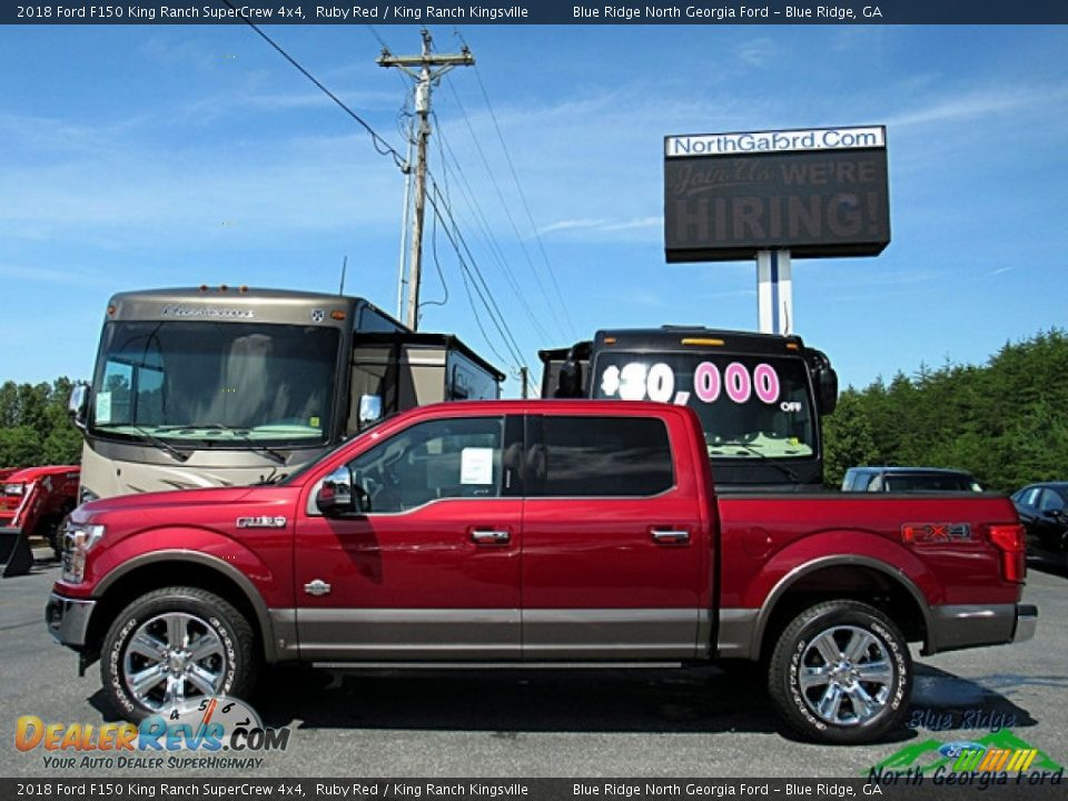 2018 Ford F150 King Ranch SuperCrew 4x4 Ruby Red / King Ranch Kingsville Photo #2