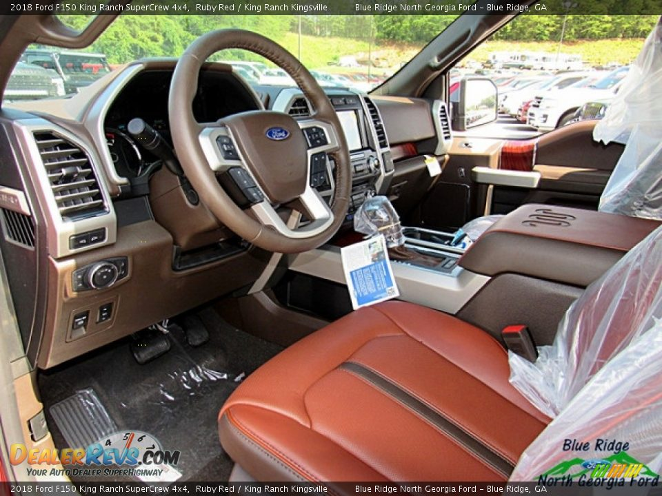 2018 Ford F150 King Ranch SuperCrew 4x4 Ruby Red / King Ranch Kingsville Photo #31