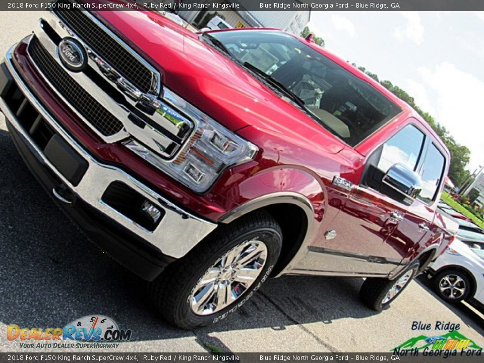 2018 Ford F150 King Ranch SuperCrew 4x4 Ruby Red / King Ranch Kingsville Photo #34