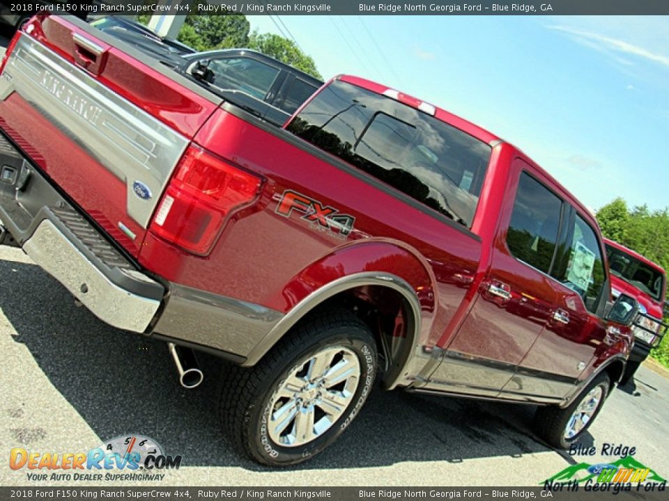 2018 Ford F150 King Ranch SuperCrew 4x4 Ruby Red / King Ranch Kingsville Photo #36