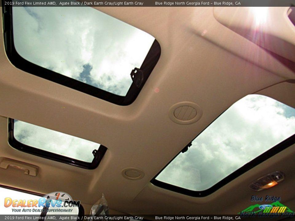 2019 Ford Flex Limited AWD Agate Black / Dark Earth Gray/Light Earth Gray Photo #23