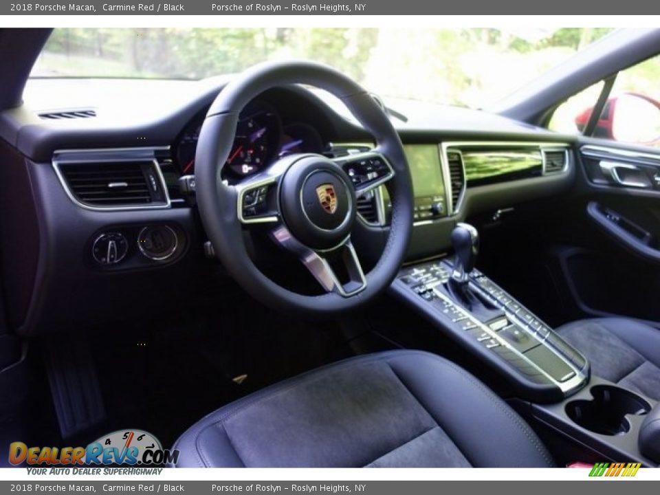 2018 Porsche Macan Carmine Red / Black Photo #12