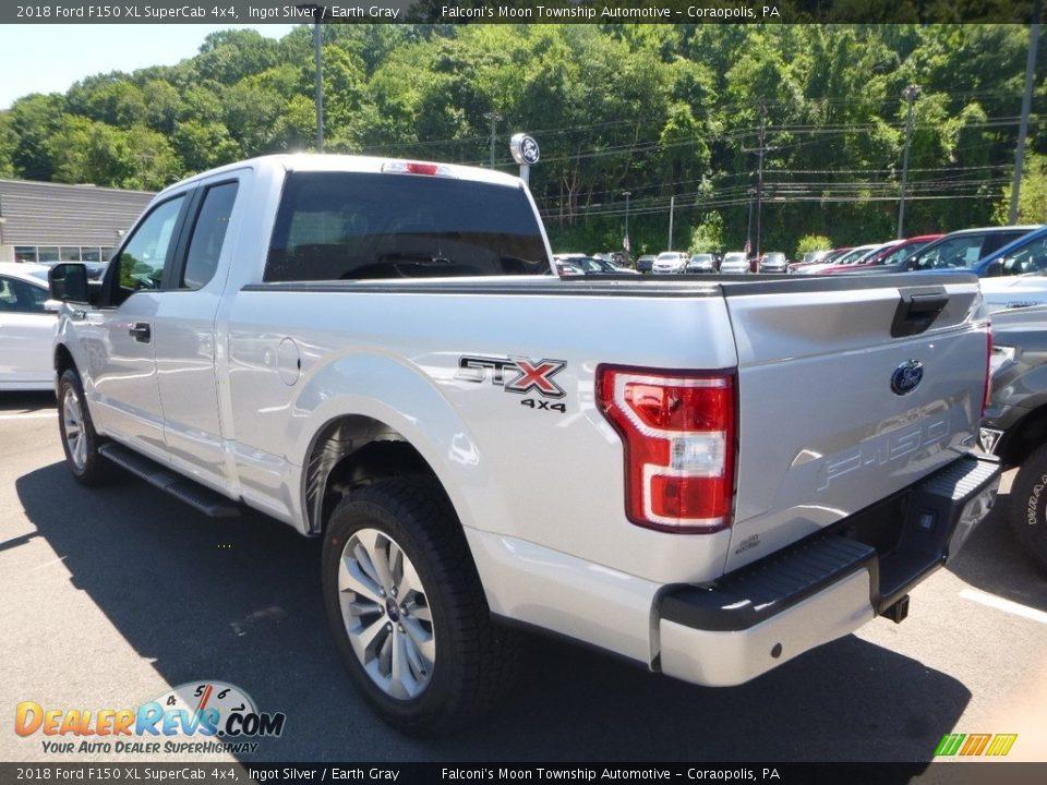 2018 Ford F150 XL SuperCab 4x4 Ingot Silver / Earth Gray Photo #6