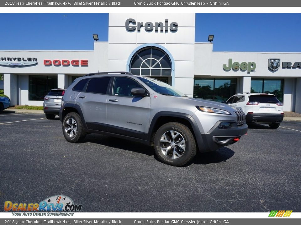 2018 Jeep Cherokee Trailhawk 4x4 Billet Silver Metallic / Black Photo #1