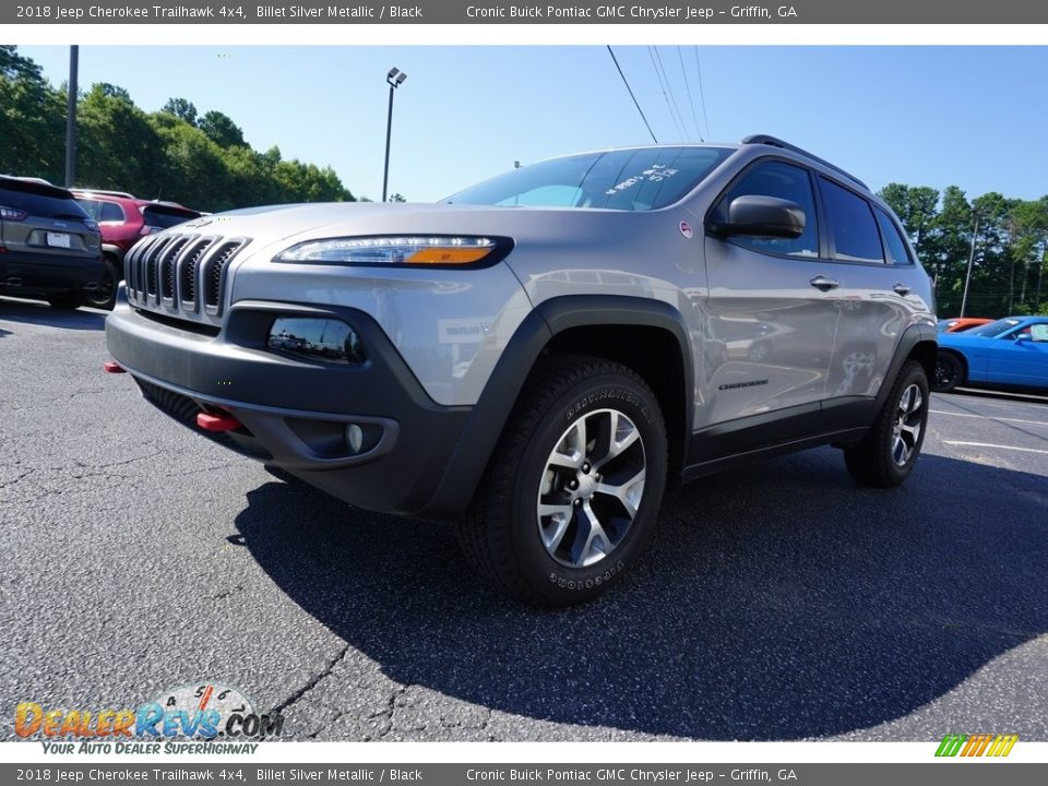2018 Jeep Cherokee Trailhawk 4x4 Billet Silver Metallic / Black Photo #3