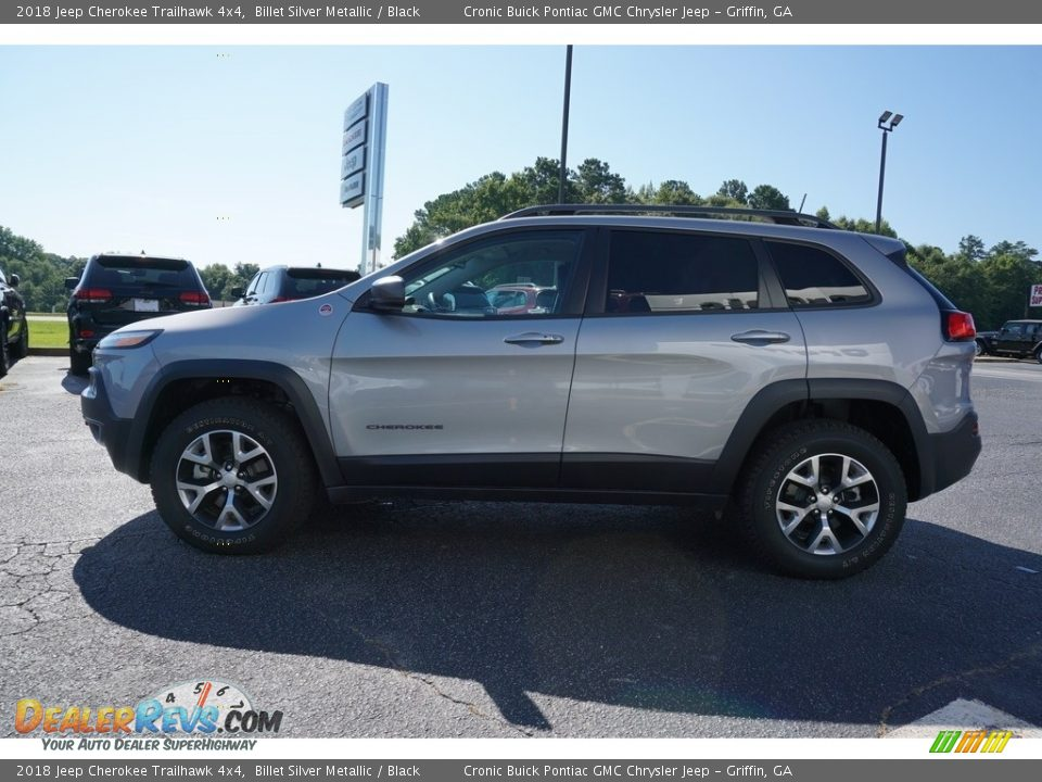 2018 Jeep Cherokee Trailhawk 4x4 Billet Silver Metallic / Black Photo #4