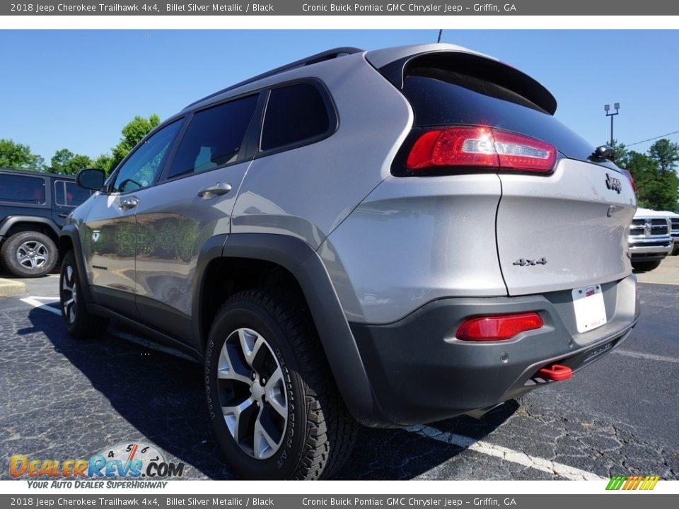 2018 Jeep Cherokee Trailhawk 4x4 Billet Silver Metallic / Black Photo #10