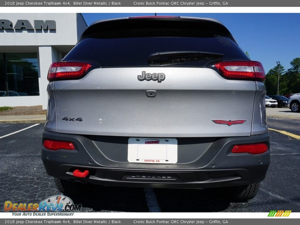 2018 Jeep Cherokee Trailhawk 4x4 Billet Silver Metallic / Black Photo #11