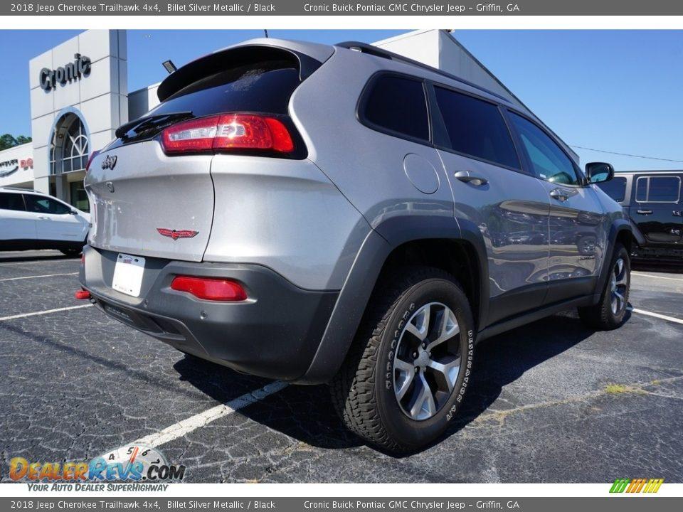 2018 Jeep Cherokee Trailhawk 4x4 Billet Silver Metallic / Black Photo #12
