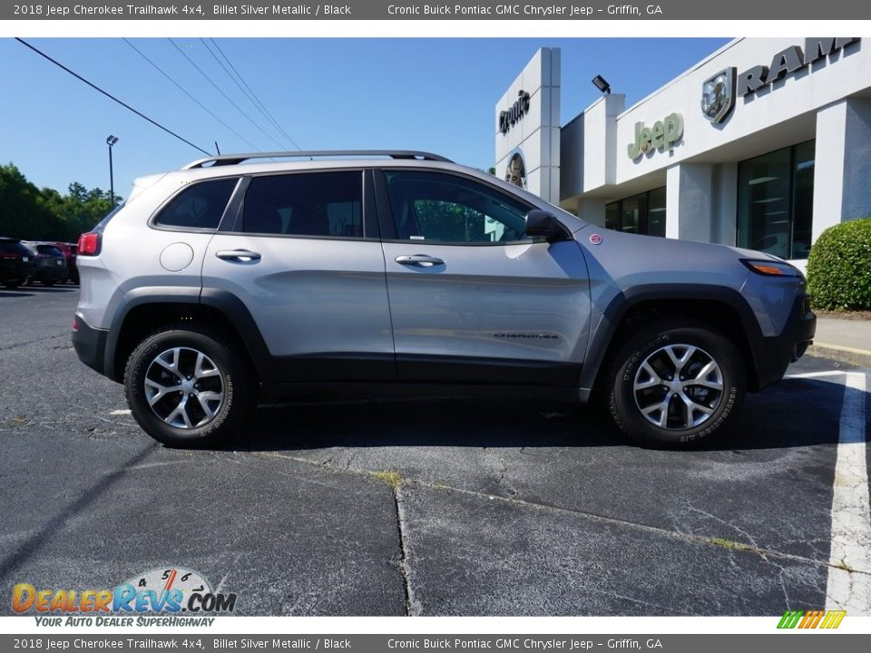 2018 Jeep Cherokee Trailhawk 4x4 Billet Silver Metallic / Black Photo #13