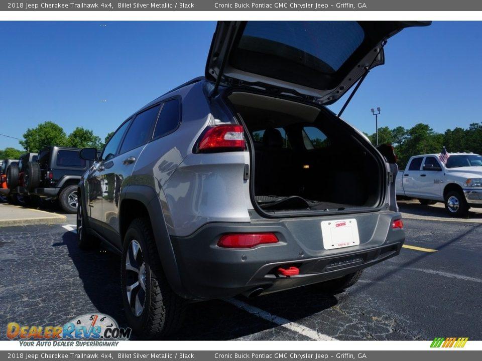 2018 Jeep Cherokee Trailhawk 4x4 Billet Silver Metallic / Black Photo #18