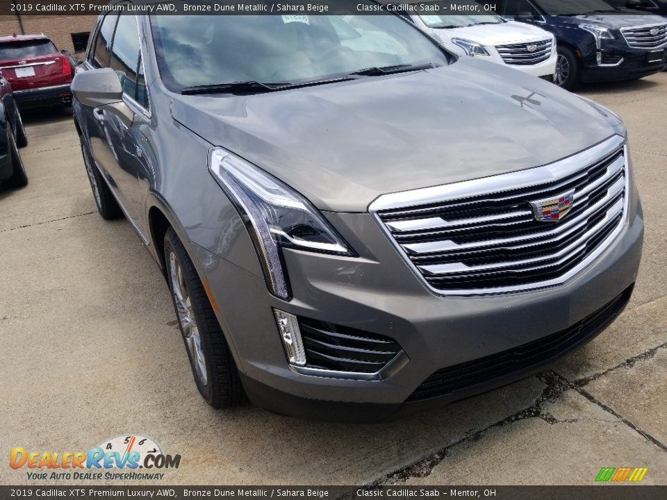 2019 Cadillac XT5 Premium Luxury AWD Bronze Dune Metallic / Sahara Beige Photo #1