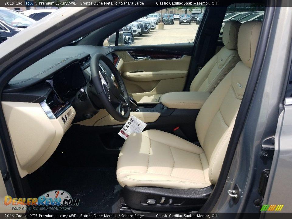 Sahara Beige Interior - 2019 Cadillac XT5 Premium Luxury AWD Photo #3