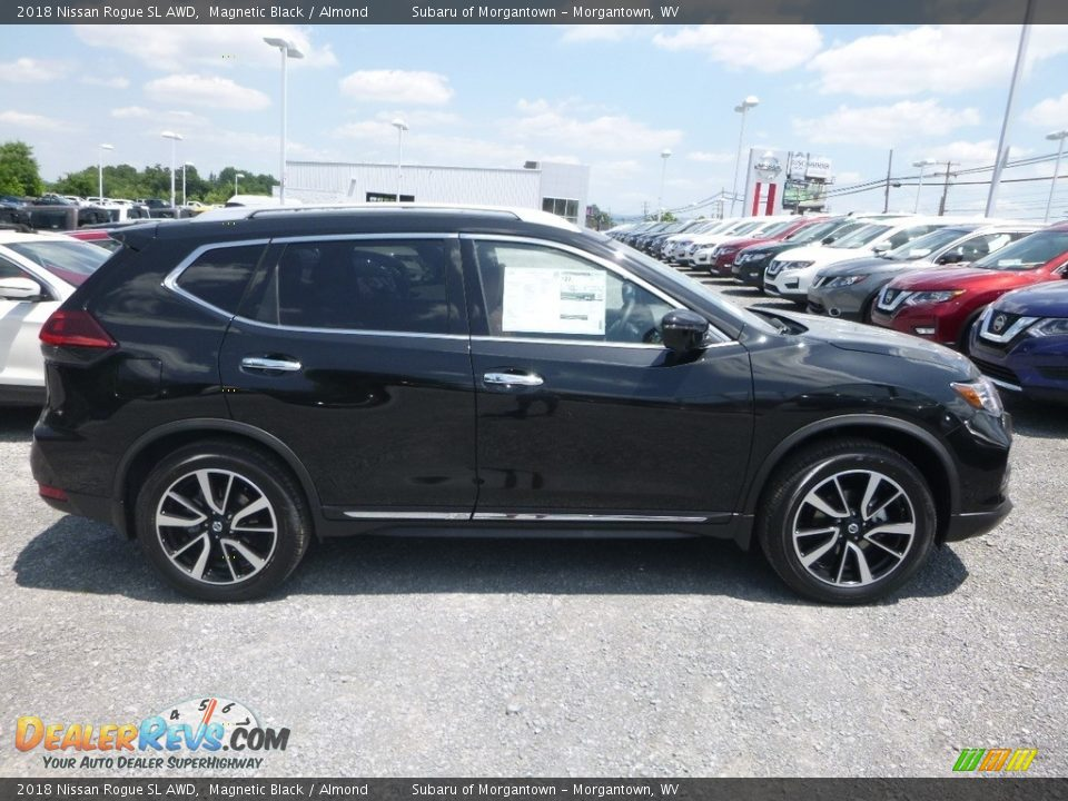 2018 Nissan Rogue SL AWD Magnetic Black / Almond Photo #3