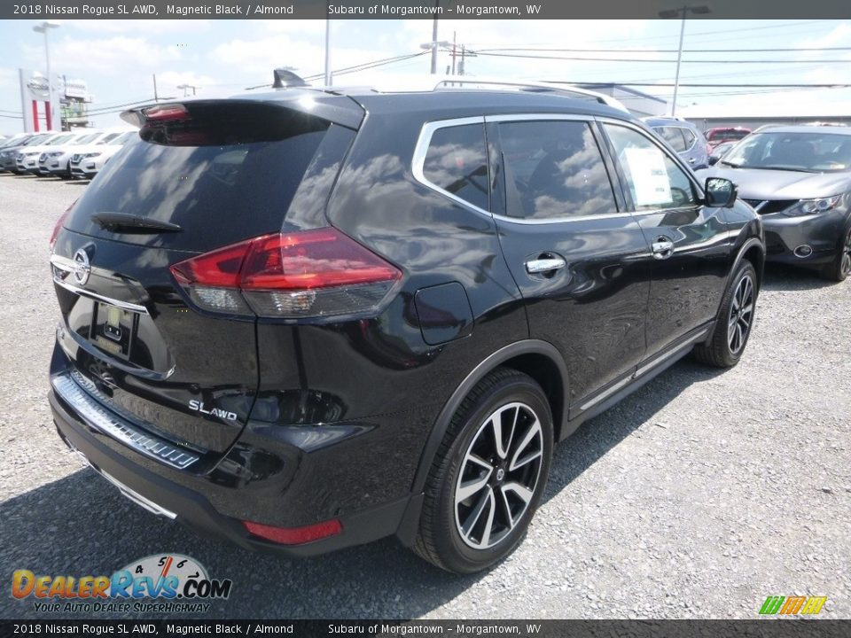 2018 Nissan Rogue SL AWD Magnetic Black / Almond Photo #4