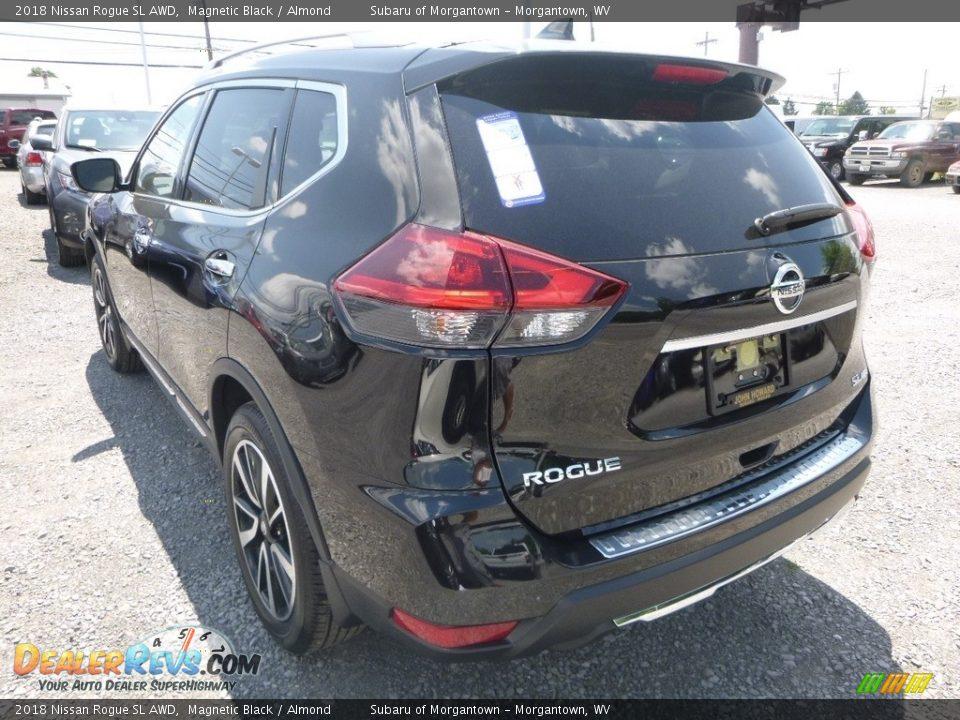 2018 Nissan Rogue SL AWD Magnetic Black / Almond Photo #6