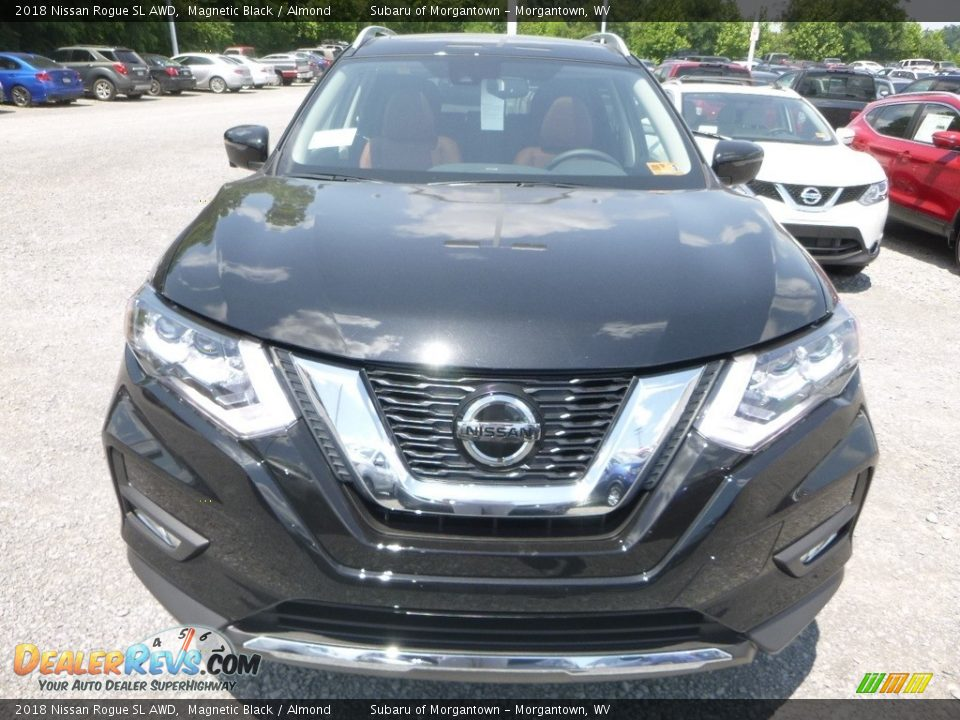 2018 Nissan Rogue SL AWD Magnetic Black / Almond Photo #9