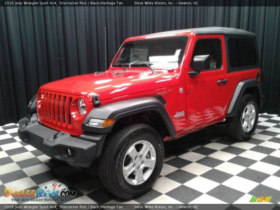 2018 Jeep Wrangler Sport 4x4 Firecracker Red / Black/Heritage Tan Photo #2