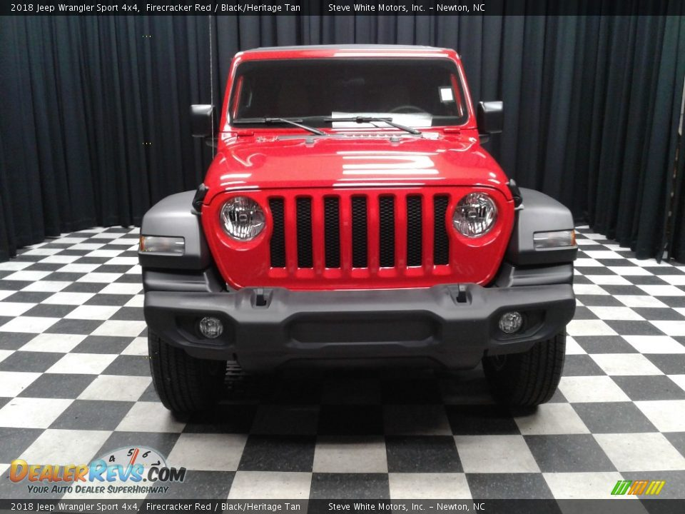 2018 Jeep Wrangler Sport 4x4 Firecracker Red / Black/Heritage Tan Photo #3