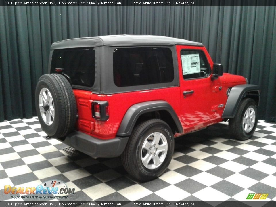 2018 Jeep Wrangler Sport 4x4 Firecracker Red / Black/Heritage Tan Photo #6