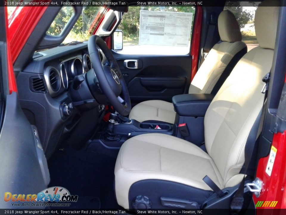 2018 Jeep Wrangler Sport 4x4 Firecracker Red / Black/Heritage Tan Photo #10