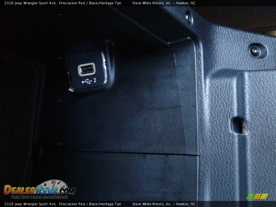 2018 Jeep Wrangler Sport 4x4 Firecracker Red / Black/Heritage Tan Photo #25