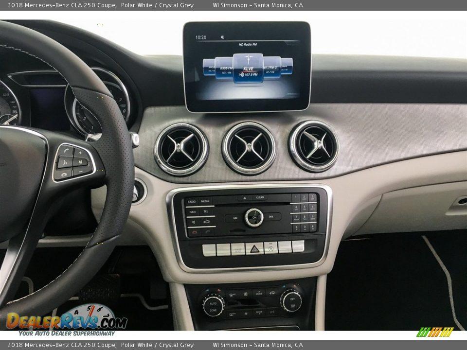 2018 Mercedes-Benz CLA 250 Coupe Polar White / Crystal Grey Photo #6