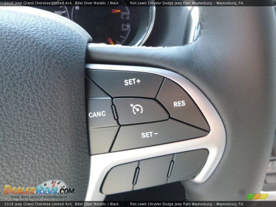 2018 Jeep Grand Cherokee Limited 4x4 Billet Silver Metallic / Black Photo #19
