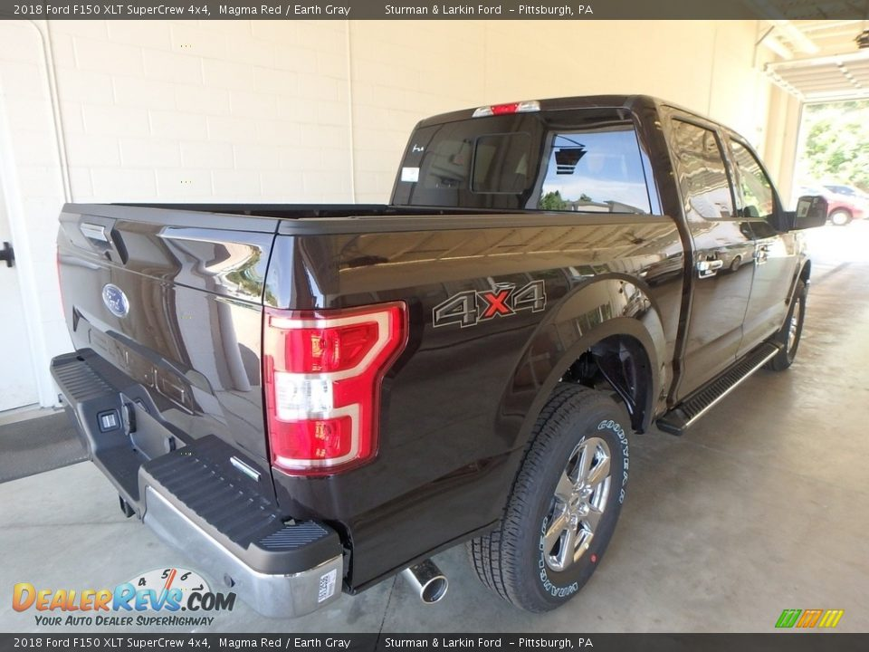 2018 Ford F150 XLT SuperCrew 4x4 Magma Red / Earth Gray Photo #2