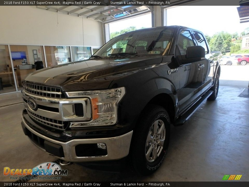 2018 Ford F150 XLT SuperCrew 4x4 Magma Red / Earth Gray Photo #4
